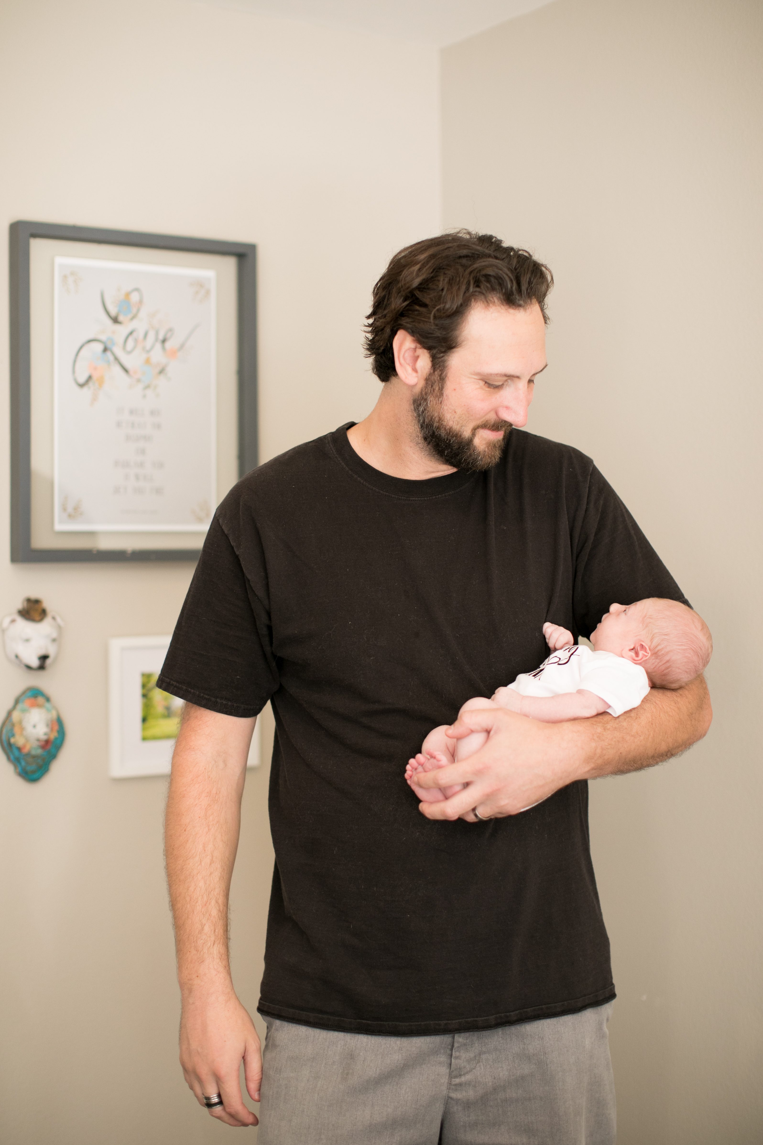 RELish By Arielle's husband Phil Galanty with new baby Naiya Lennon